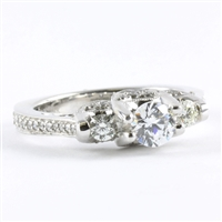 Three diamonds with 1/2ct tw 14K white gold
