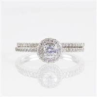 Round diamond 2/3ct tw halo wedding set
