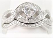 Ribbon Semi-Mount Wedding Set