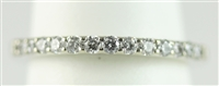 Woman's Diamond Band in 14 K White Gold