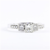 Three diamonds with 3/4ct tw 14K white gold