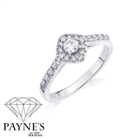 Diamond Shape Halo Ring