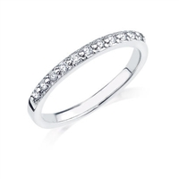 White gold band with .17ct total diamond weight.