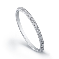 Diamond band with .12ct diamond 14K white gold