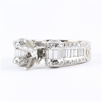 Woman's Semi-mounting 1ct tw 18K white gold
