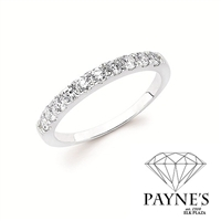 1/10ct diamond wedding band in 14K white gold