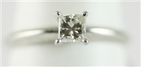 Princess cut Diamond Solitaire 1/3ct