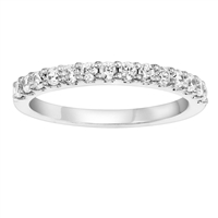 1/3ct diamond wedding band in 14K white gold