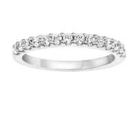 1/2ct diamond wedding band in 14K white gold