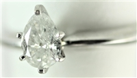 VS2 Pear Solitaire Ring