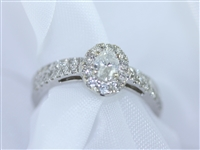 Gorgeous Oval Diamond Bridal Set in 14K White Gold