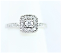 Rounded Square Halo Diamond Ring