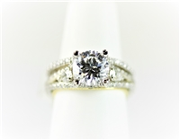 2 Carat Solitaire Round Center Wedding Set