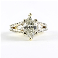Award winning ring by Fanous 3ct marquise in 18K gold