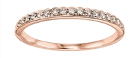 Scalloped Rose Diamond Band