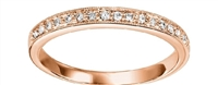 Woman's Diamond Band in 14 K Rose Gold