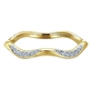 Gorgeous 14K yellow gold band with .17ct total diamond weight.
