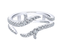Diamond ring jacket with .42ct tw 14K white gold