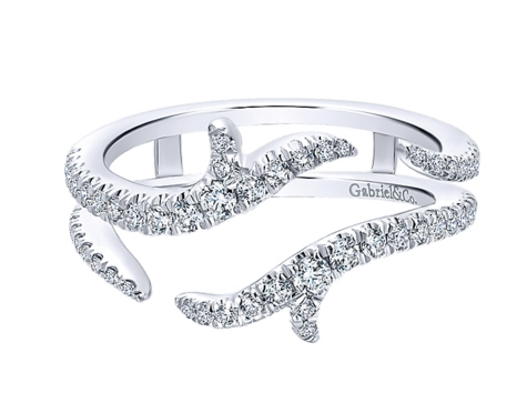 ring jacket with 42ct tw 14k white gold - Wedding Ring Jackets