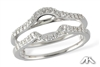Diamond ring guard in 14K white gold.