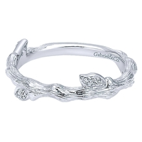 "Diamond ""twig"" ring in 14K white gold .07ct tw."