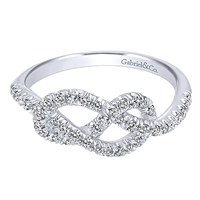 Diamond ring with .38ct total diamond weight in 14K white gold