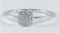 14K WG DIA. RING .11 CT
