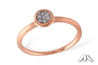 Woman's diamond ring in 14K rose gold