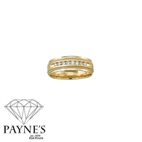 Man's 1/4ct diamond ring in 10K yellow gold