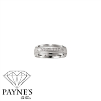 Man's 1/4ct diamond ring in 10K white gold