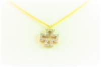 Yellow Gold Diamond Iron Cross