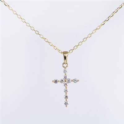 Diamond cross in 14K white gold with .25ct tw.