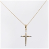 Diamond cross in 14K white gold with .06ct tw.