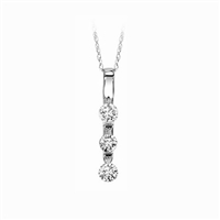 1/2ct. Floating diamond pendant in 14K white gold.
