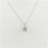 1/4ct total diamond weight pendant 14K white gold