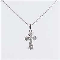 .20ct total diamond weight cross in 14K white gold