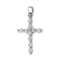 1/2ct total diamond weight cross in 14K white gold