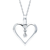 .06ct shimmering diamond pendant in 14K white gold