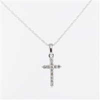 .10ct total diamond weight cross in 14K white gold