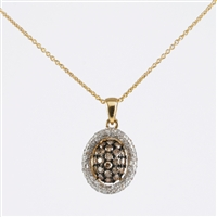 1/2ct. total diamond weight pendant in 14K yellow.