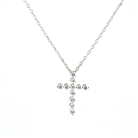 Diamond cross pendant 1/4ct total weight 14KW .