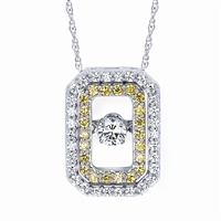 5/8 ct tw  diamond pendant in 14K white gold