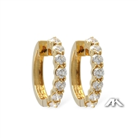 2 carat diamond hoop earrings in 14k yellow gold