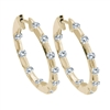 Diamond Hoops Earrings 1 carat in 14K yellow gold.