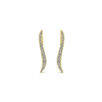 14k Yellow Gold Comets Earcuffs