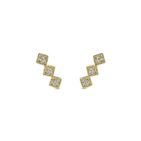 Diamond earrings .04ct total weight in 14K yellow gold.