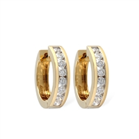 1ct diamond hoops in 14K yellow gold