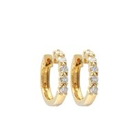 1/2 carat diamond hoop earrings in 14k yellow gold