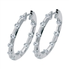 Diamond Hoops Earrings 1 carat in 14K white gold.