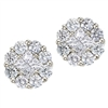 1 carat total diamond weight in 14K white gold ear studs.